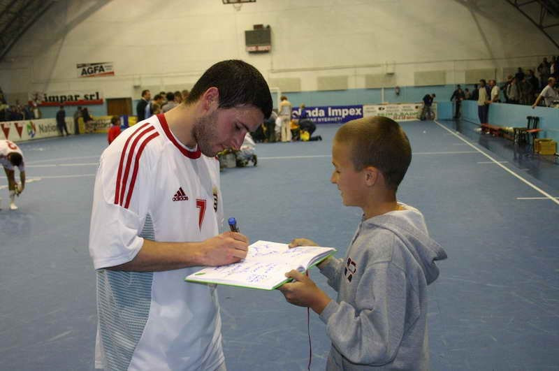 Lódi Tamás from the National Futsal team and I (~2001)