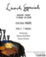 Feb 3, 4, 5, 6, 7 Lunch Specials | Txanton