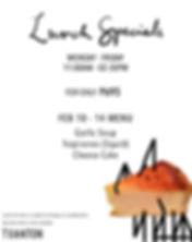 Feb 10, 11, 12, 13, 14  Lunch Specials | Txanton