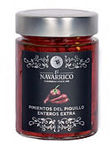 El Navarrico Whole White Piquillo Pepper - Pimientos Piquillo Enteros Extra 314ml.j