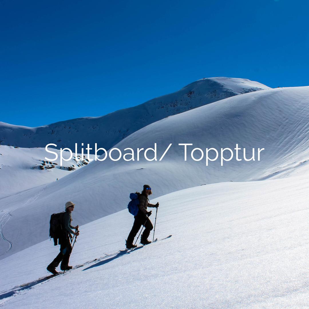 splitboard topptur