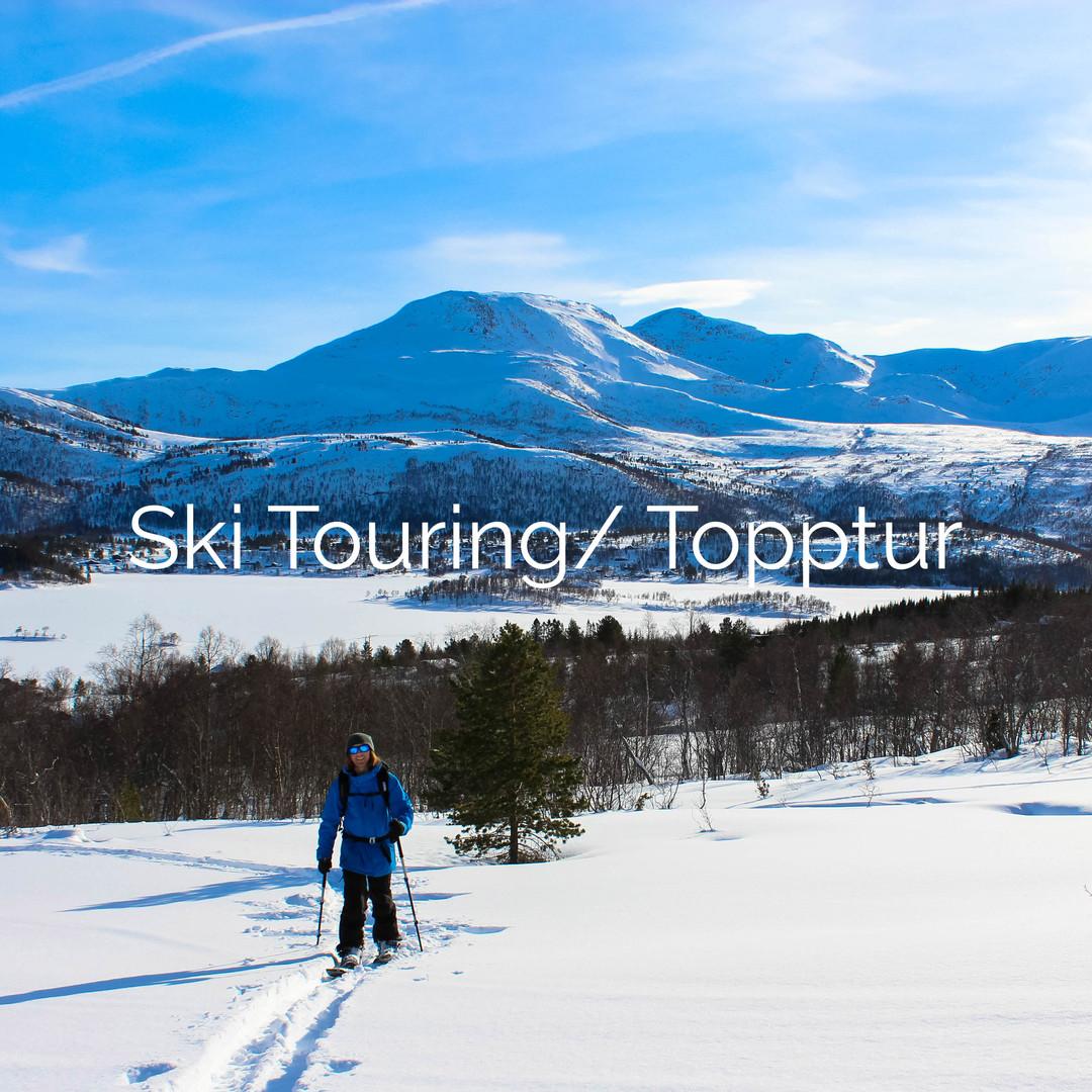 ski touring topptur