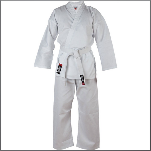 Adults Cotton karate suit (white belt & Badge included)