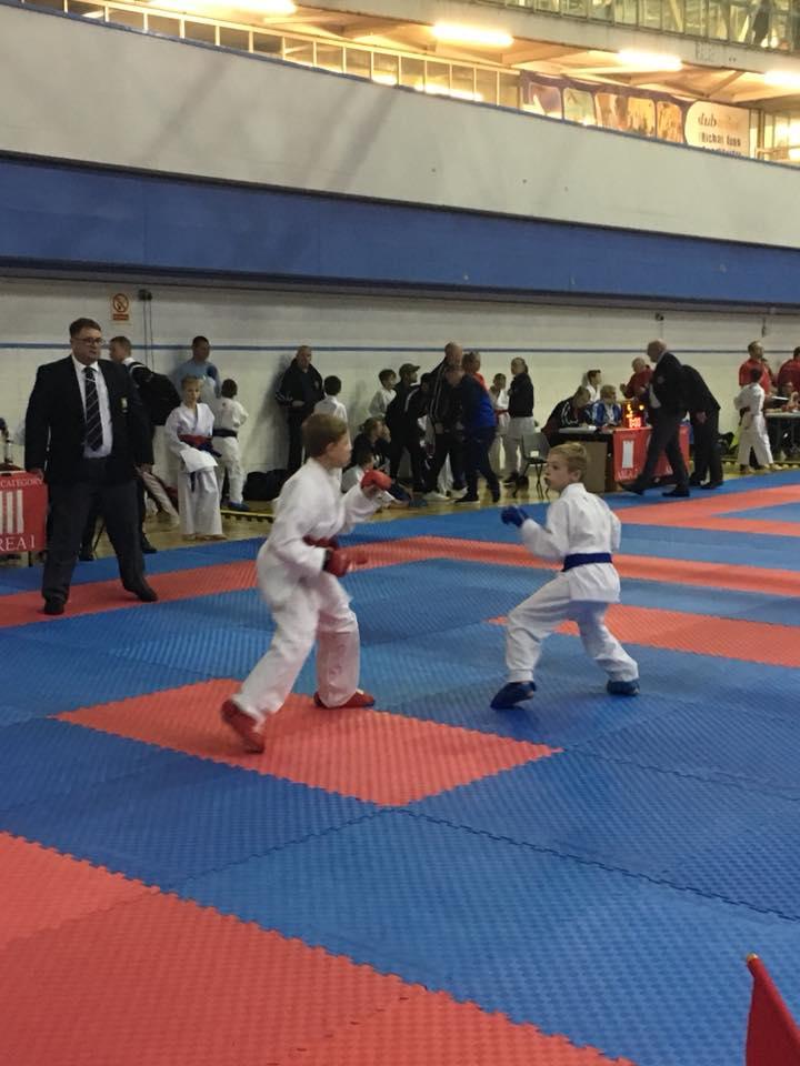 Alex's 1st kumite bout at external championships