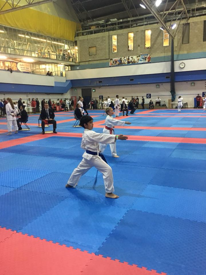 Ahmed doing a lovely Pinan Sandan - Very unlucky not to win this round