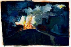 """""""Burning Skies,"""" 2014."""
