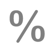 Grey Percent Icon