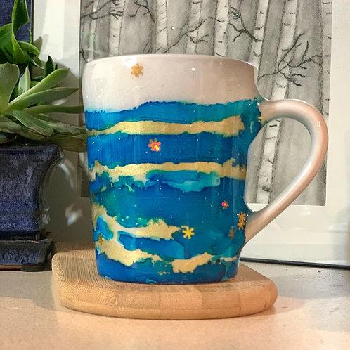 14oz Ceramic Hand Painted Winter Mug
