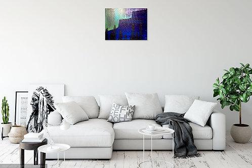 Original Painting of Aurora through the Tree Tops 9x12