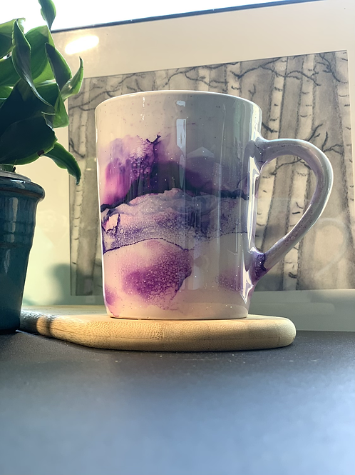 14oz Ceramic Hand Painted Mug