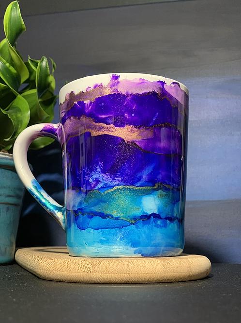 14oz Hand Painted Ceramic Mug