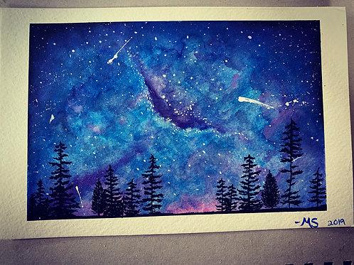 Original watercolor painting 8x5 (8x10 matting)