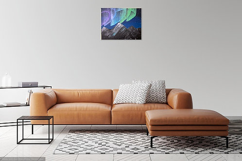 Aurora Borealis Painting on Streched Canvas 16x20