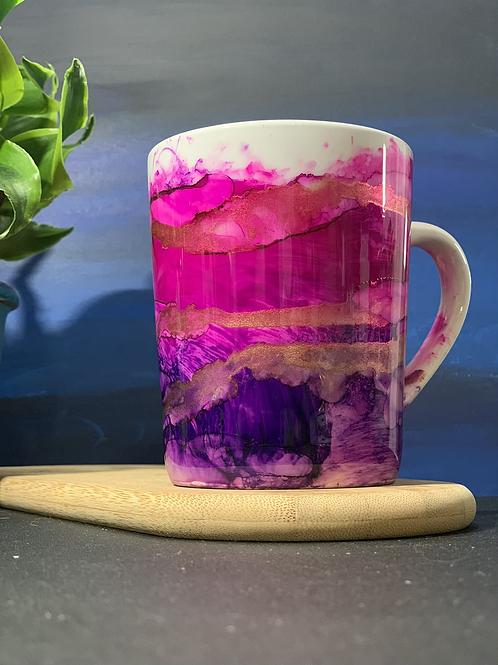 14oz Ceramic Hand Painted Mug