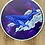 Thumbnail: Matte Whale Milky Way Dream Sticker 3x3
