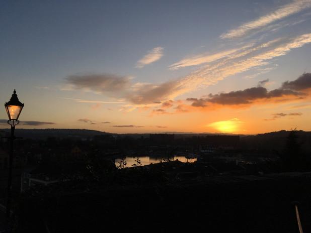 Cliftonwood sunset, Bristol