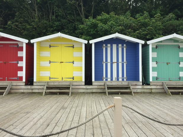 Beach Huts, Colwell, Isle of Wight