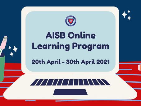 AISB Term 3 Online Learning Program (2 weeks):
