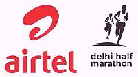 Logo of Airtel Delhi half marathon