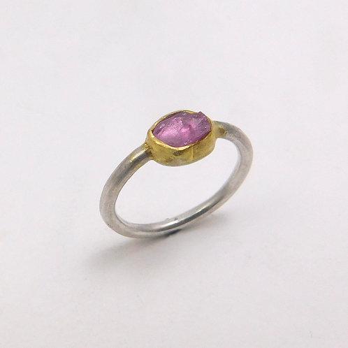 Rough Cut Sapphire Ring