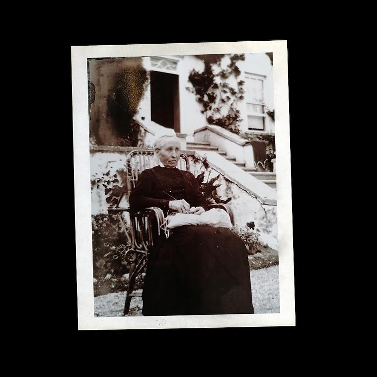 An old photo of an elder female member o
