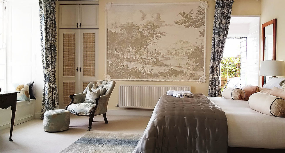 An interior shot of the Egret bedroom at