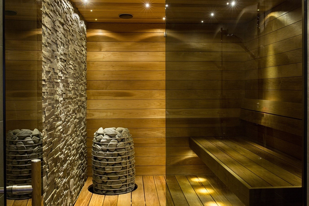 A well-maintained sauna