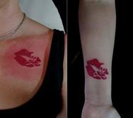Kussmund Tattoo