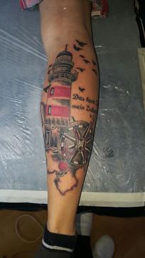 Leuchtturm Tattoo