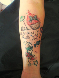 Süßigkeiten Tattoo