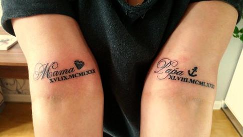 Schriftzug Tattoo Arm