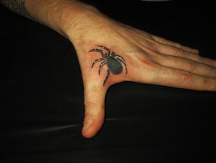 Spinnen Tattoo Hand