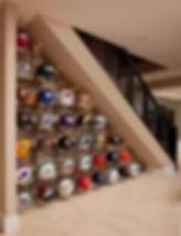 French Country, Custom Home, Custom Builder, Stone, Rock, Executive home, Estate Home, Designer, Custom, Stucco, 4 car garage, priddis, hawks landing, calgary, canada, golf course, priddis greens, country club, golf, baywood, baywood estate homes, helmet display, helmet, display, sports, memorabilia, country