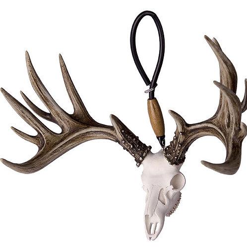 BIG RACK Whitetail Deer Skull and Antlers Shedz Rearview Mirror Hanger