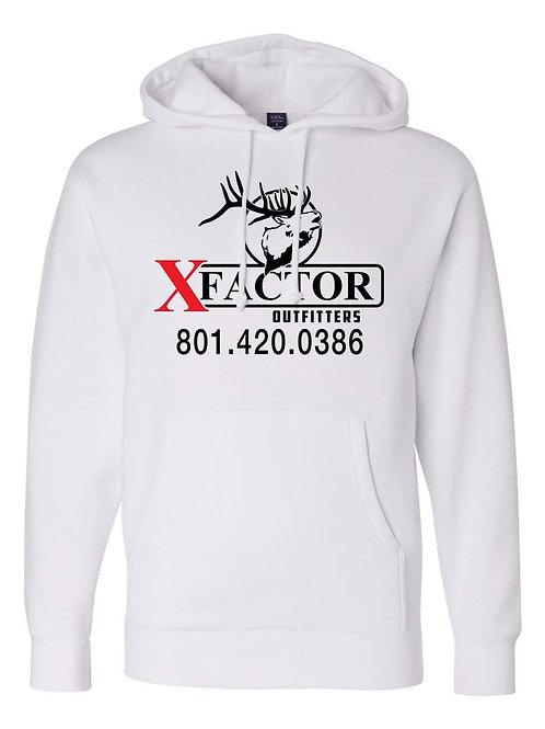Mens/Womens XFO White Hooded Sweatshirt