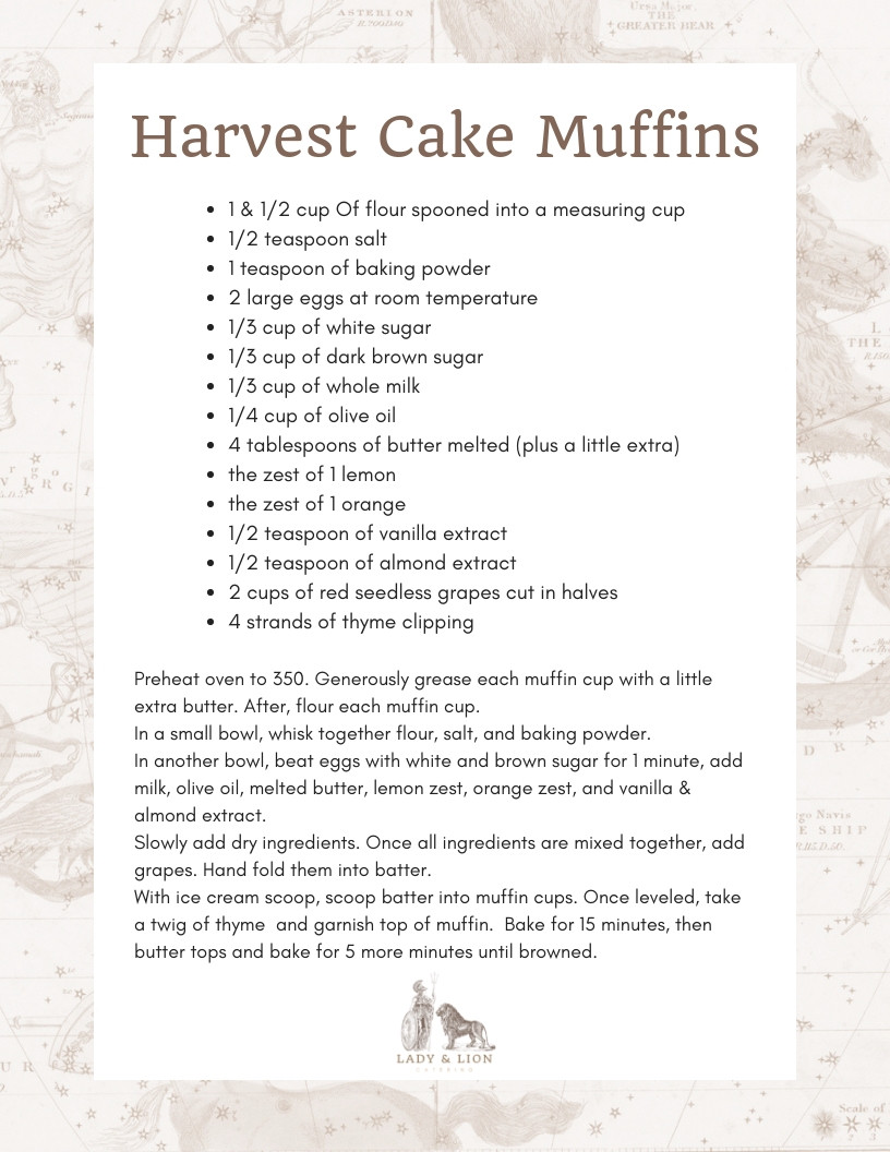 Lady and Lion Harvest Cake Recipe
