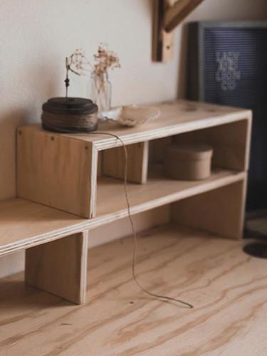 Custom Desktop Shelves