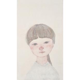 2018  水干絵具、墨、雲肌麻紙、パネル / Pigments,ink,paper , wood panel