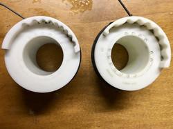 Left: Frischi's original 9s (prototype?) - Right: standard 8s