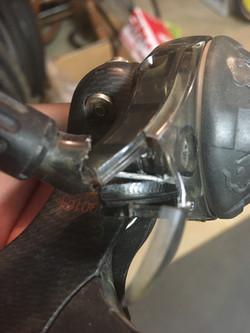 Rear shifter case broken