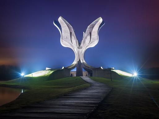 Jasenovac Memorial (Stone Flower), Croatia.