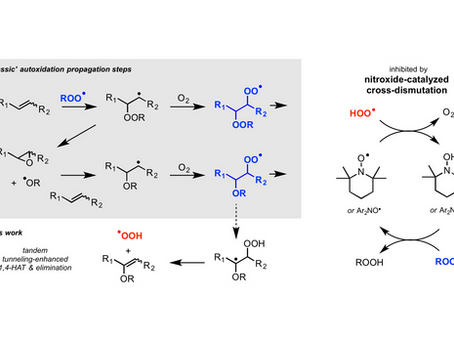 Our paper on the nitroxide-catalyzed cross-dismutation of peroxyls is published in Chem. Sci!