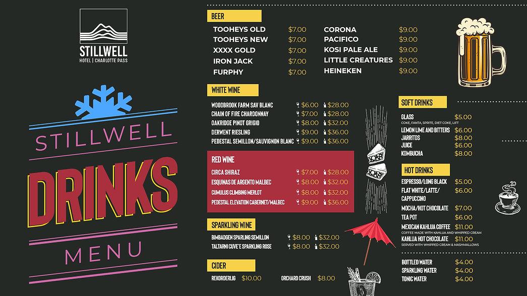 B1 Stillwell TV Drinks Menu June Update