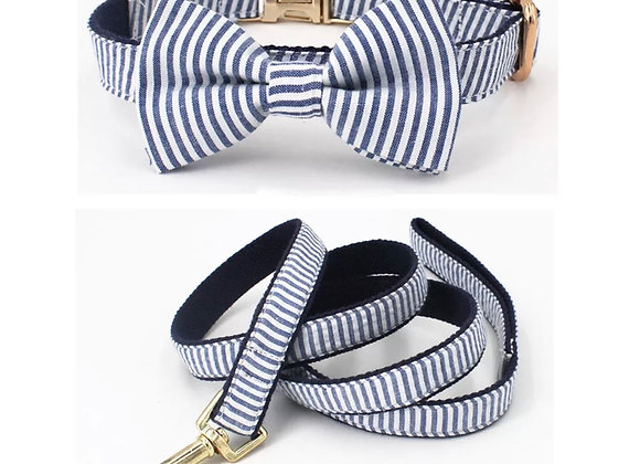Stripped Leash and Collar Set