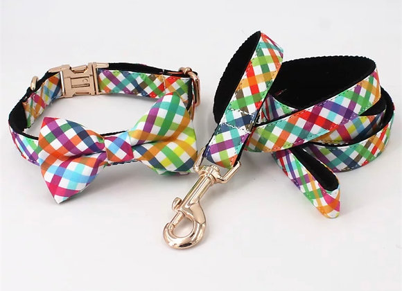 Rainbow Leash and Collar Set