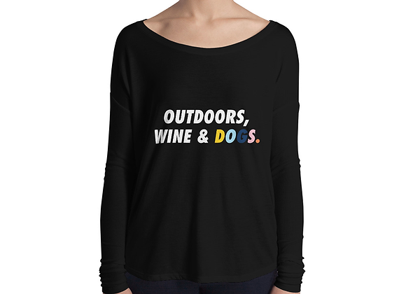 Outdoors. Wine. Dogs