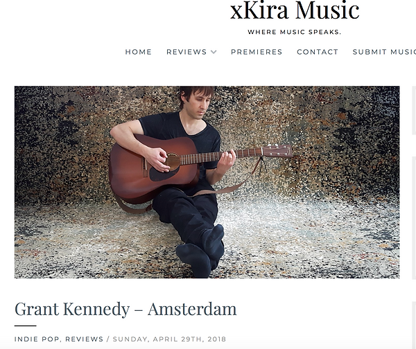 xKira Music blog logo featuring Grant Kennedy's music