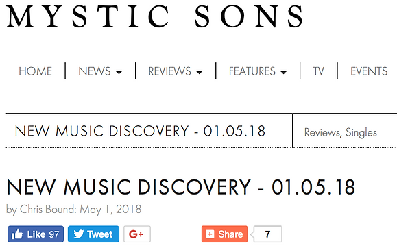 Mystic Sons music blog logo featuring Grant Kennedy's music