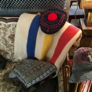 Vintage Tam and a beautiful Hudson Bay Blanket in the Elton Street Collections