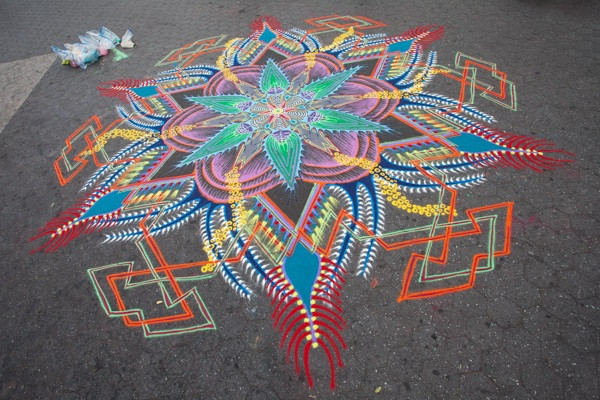 Sand Painting and Photo by Joe Mangrum